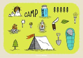 Vettori disegnati a mano Doodle Camp