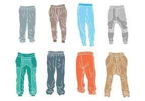 Vettore libero delle icone dei pantaloni sportivi