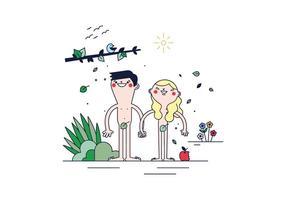 Adam And Eve Vector gratuito
