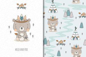 orso tribale selvaggio e libero