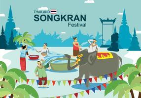 Illustrazione di Songkran vettore