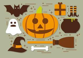 Raccolta di vettore degli elementi di Halloween della zucca