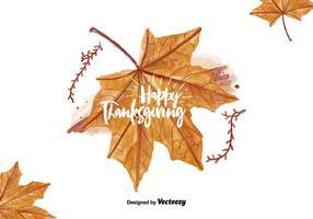 Illustrazione dell'acquerello foglia di ringraziamento