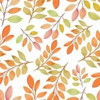 acquerello autunno stagione natura seamless pattern con ramo
