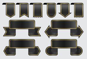 Bandiere del nastro nero vettore