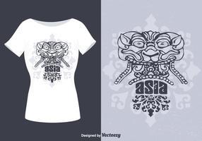 T-Shirt Design Barong Vector gratuito