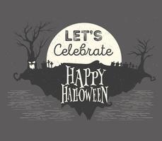 illustrazione vettoriale di notte di halloween