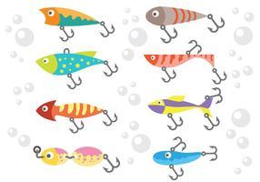 Vettore libero delle icone di richiamo di pesca