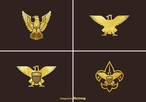 Set vettoriale gratuito Golden Eagle