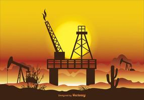 Illustrazione di vettore del giacimento di petrolio
