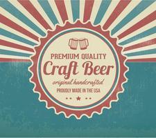 Sfondo di birra artigianale retrò promozionale