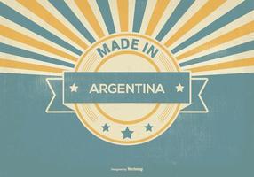 Retro fatto nell'illustrazione dell'Argentina vettore