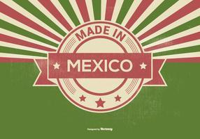 retro fatto nell'illustrazione del Messico vettore