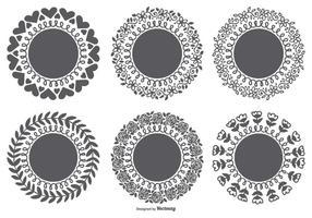 Set di forme sveglie del laser di vettore