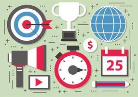 Illustrazione di vettore dell'obiettivo di marketing digitale