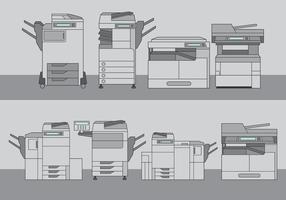 Set di strumenti di fotocopiatrice vettore