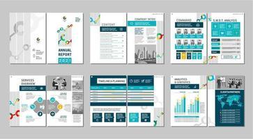 progettazione del layout del modello di brochure.