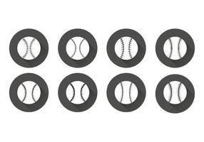 Vettore di lacci di baseball piatto gratuito