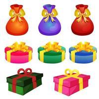 set di scatole regalo natalizie