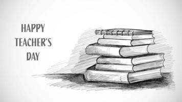 libro di schizzi del giorno dell'insegnante felice