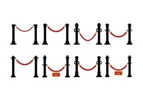 Velvet Rope Vector Set