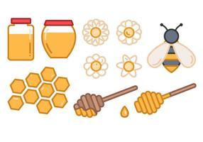 Vettore gratuito di miele