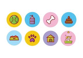 Set di icone del cane gratis vettore
