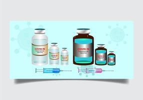 flaconcino di set di medicinali vettore
