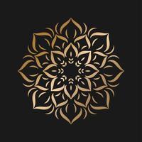 semplice mandala dorato con stile floreale