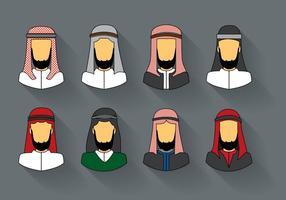Vettore arabo dell'uomo Keffiyeh