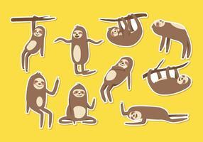 Vettore del fumetto di bradipo libero