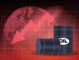 mercato del prezzo del petrolio con barili vettore