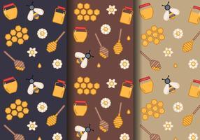 Honey Pattern Vector gratuito