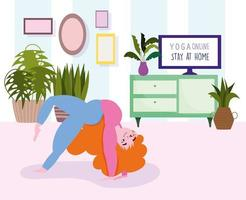 poster di yoga online