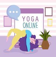giovane donna a praticare yoga