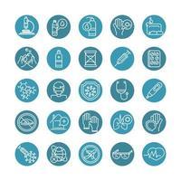 set di icone relative mediche vettore
