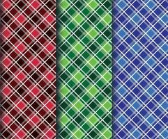 modelli di tessuto scozzese a rombi colorati
