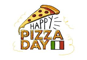 Pizza Day Vector gratuito