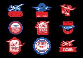 Etichette vettoriali Cessna