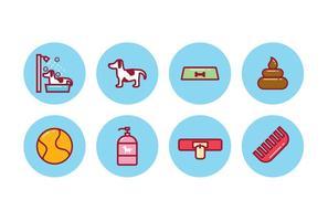 Set di icone del cane gratis