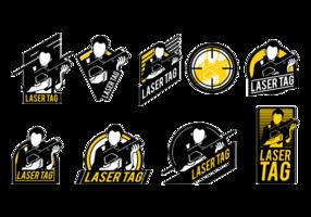 Etichette laser tag vettoriale