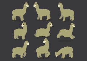 Vettori di cartone animato di alpaca