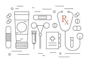 Icone mediche gratis vettore