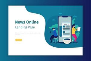 modello di pagina di destinazione online di notizie