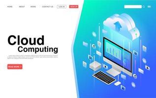 servizi di cloud computing e pagina di destinazione della tecnologia