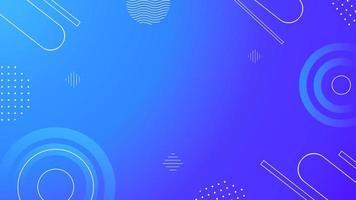 disegno geometrico blu vettore