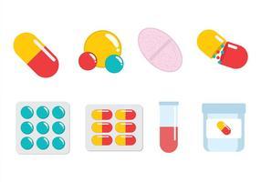 Vettore della scatola della pillola