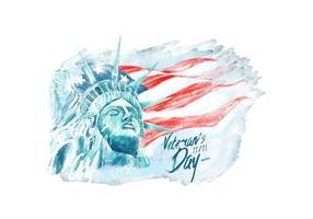 Veteran's Day Watercolor Vector