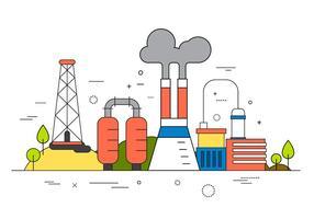 Illustrazione vettoriale di fabbrica