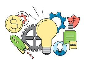 Raccolta vettoriale Startup gratuita
